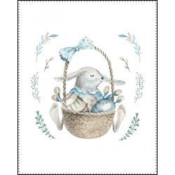 Панель для одеяла Кролик в воздушном шаре №1 100x80