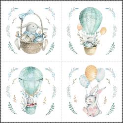 Набор панелей Кролик в воздушном шаре 35x35 (4шт.)