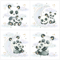 Набор панелей Панды с облаками 35x35 (4шт.)