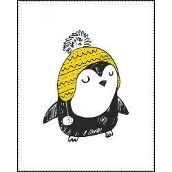 Панель для одеяла Пингвины №1 100x80