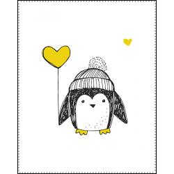 Панель для одеяла Пингвины №2 100x80