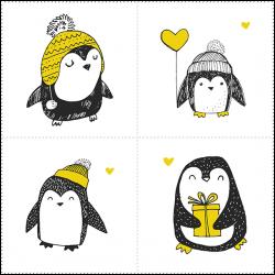 Набор панелей Пингвины 35x35 (4шт.)