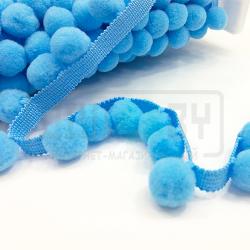 Тесьма с голубыми помпонами