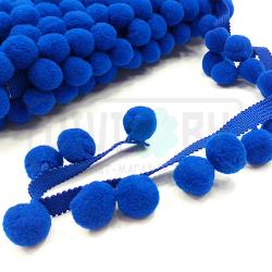 Тесьма с синими помпонами
