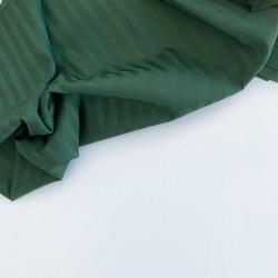 Страйп-сатин темно-зеленый мерсеризованный 240